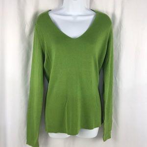 Banana Republic Silk Blend V Neck Sweater